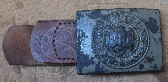 "Belt with Buckle ""Gott mit Uns"" / from Stalingrad"