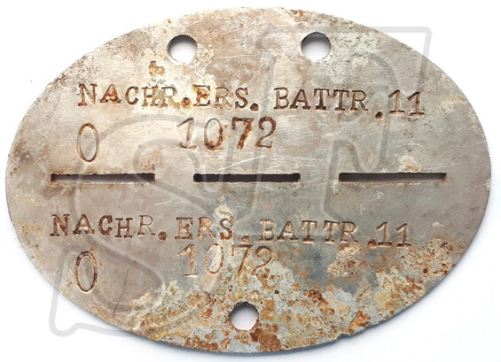 Dogtag 1.Art.Ers.Abt.9 / from Stalingrad