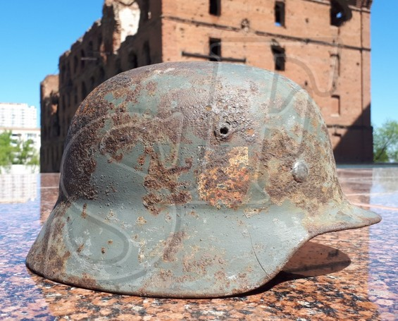 German helmet M35 from Stalino
