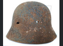 German helmet М40 from village Ezhovka